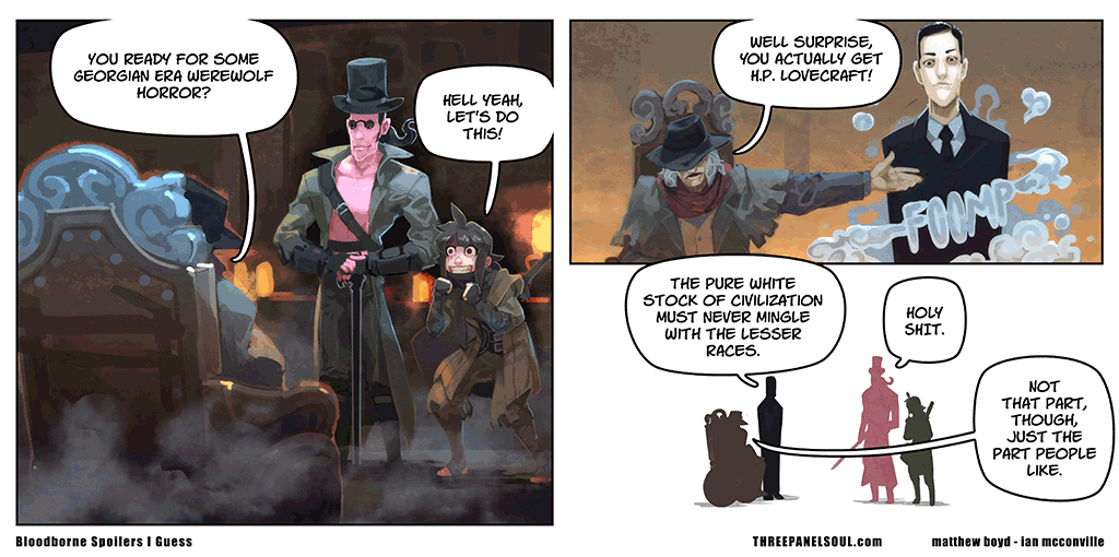 three panel soul bloodborne spoilers i guess